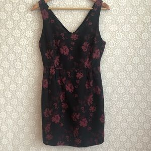 JACK. | Black & Red Floral Semi-Formal Dress | 6